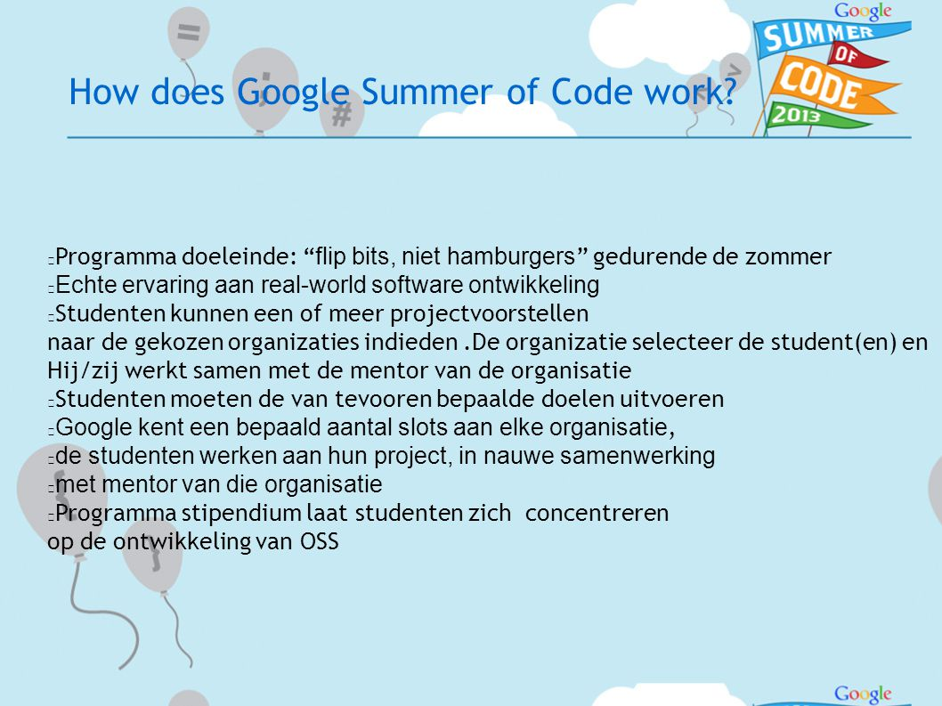How does Google Summer of Code work.