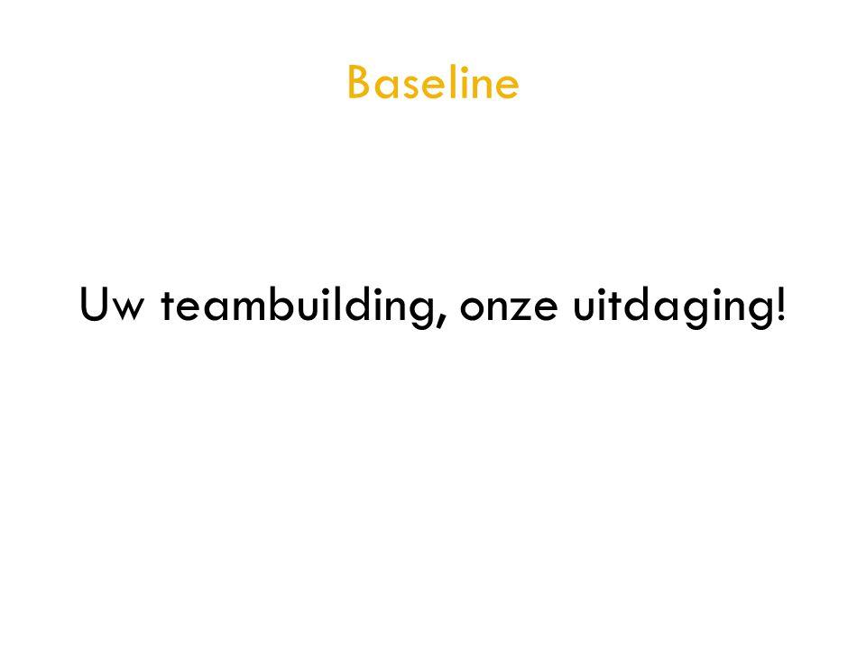 Baseline Uw teambuilding, onze uitdaging!
