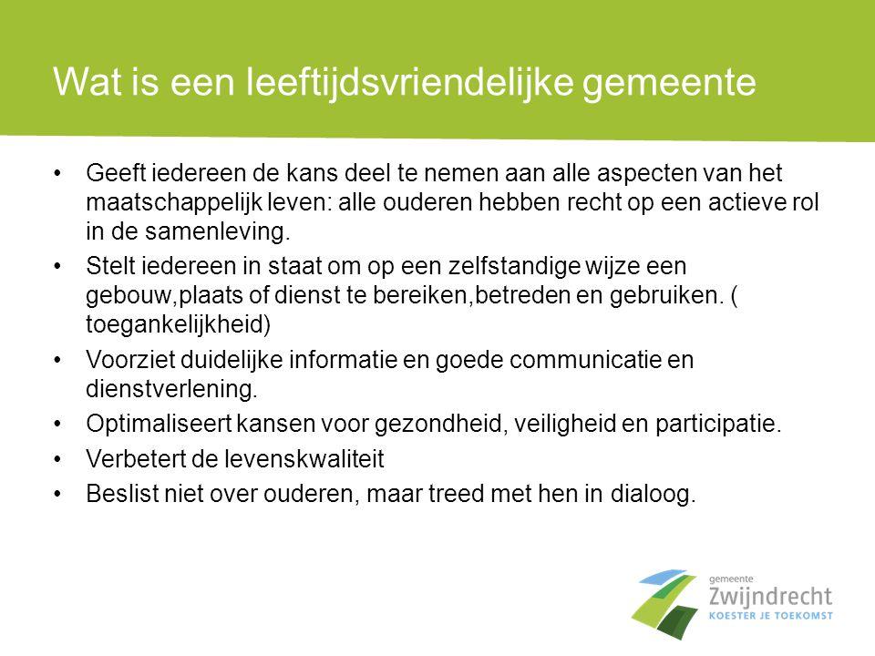 Ouderen in Zwijndrecht •De geleidelijke veroudering van de bevolking is een fundamentele trend die een verregaande impact zal hebben op onze samenleving de komende decennia.