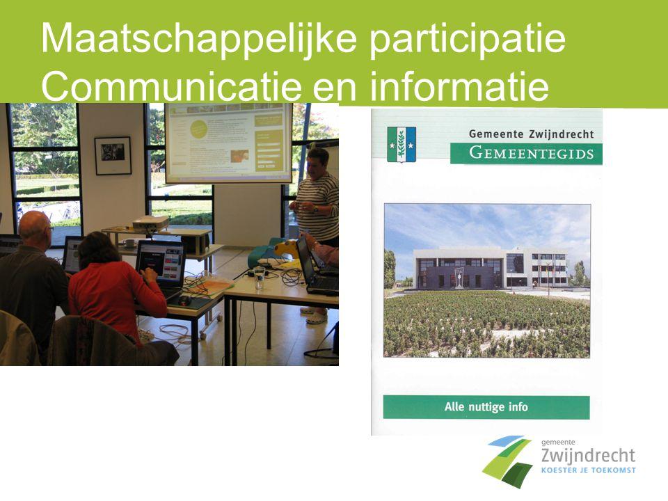 Maatschappelijke participatie Communicatie en informatie