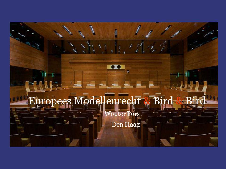 Europees Modellenrecht & Bird & Bird Wouter Pors Den Haag