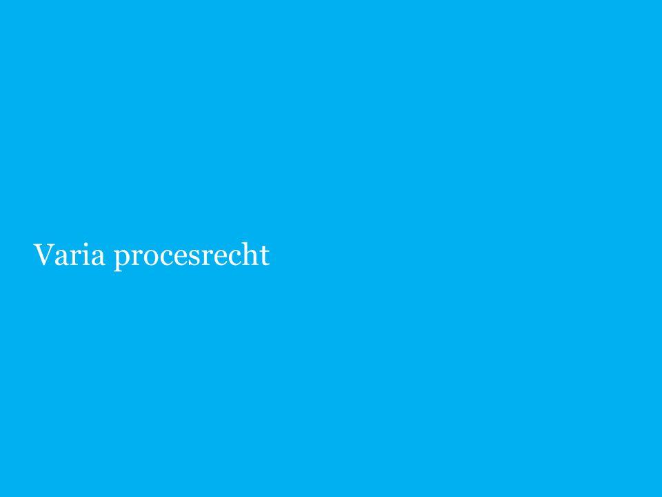Varia procesrecht