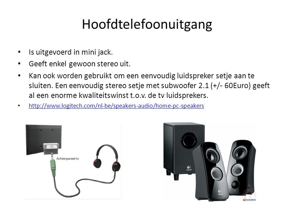 • Is uitgevoerd in mini jack. • Geeft enkel gewoon stereo uit. • Kan ook worden gebruikt om een eenvoudig luidspreker setje aan te sluiten. Een eenvou