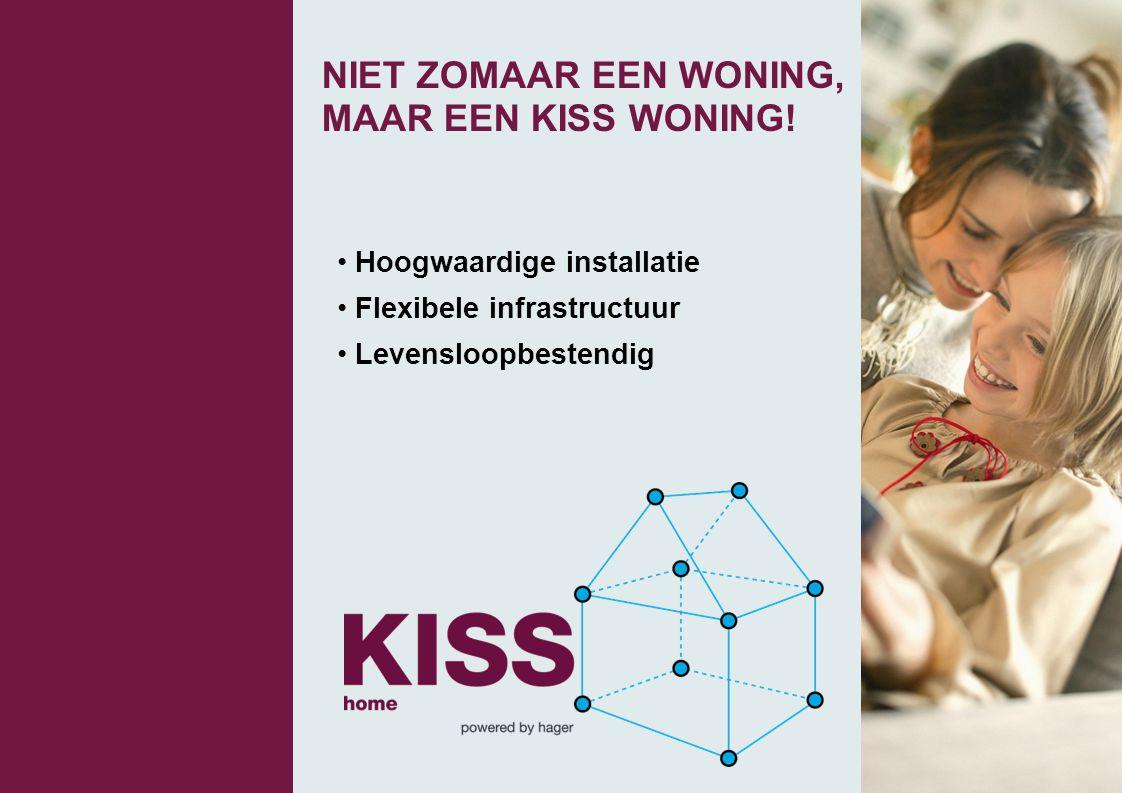 NIET ZOMAAR EEN WONING, MAAR EEN KISS WONING! • Hoogwaardige installatie • Flexibele infrastructuur • Levensloopbestendig