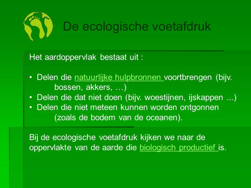 Het aardoppervlak bestaat uit : • Delen die natuurlijke hulpbronnen voortbrengen (bijv. bossen, akkers, …)natuurlijke hulpbronnen • Delen die dat niet