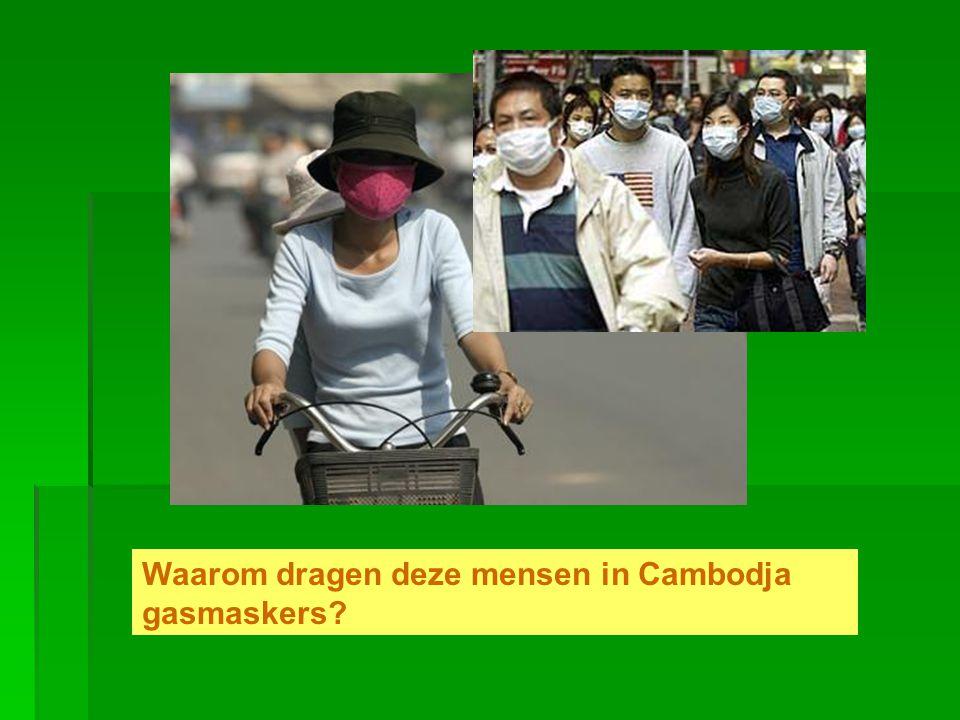 1.Een gaslek in de hoofdstad 2. Luchtvervuiling in de binnenstad 3.