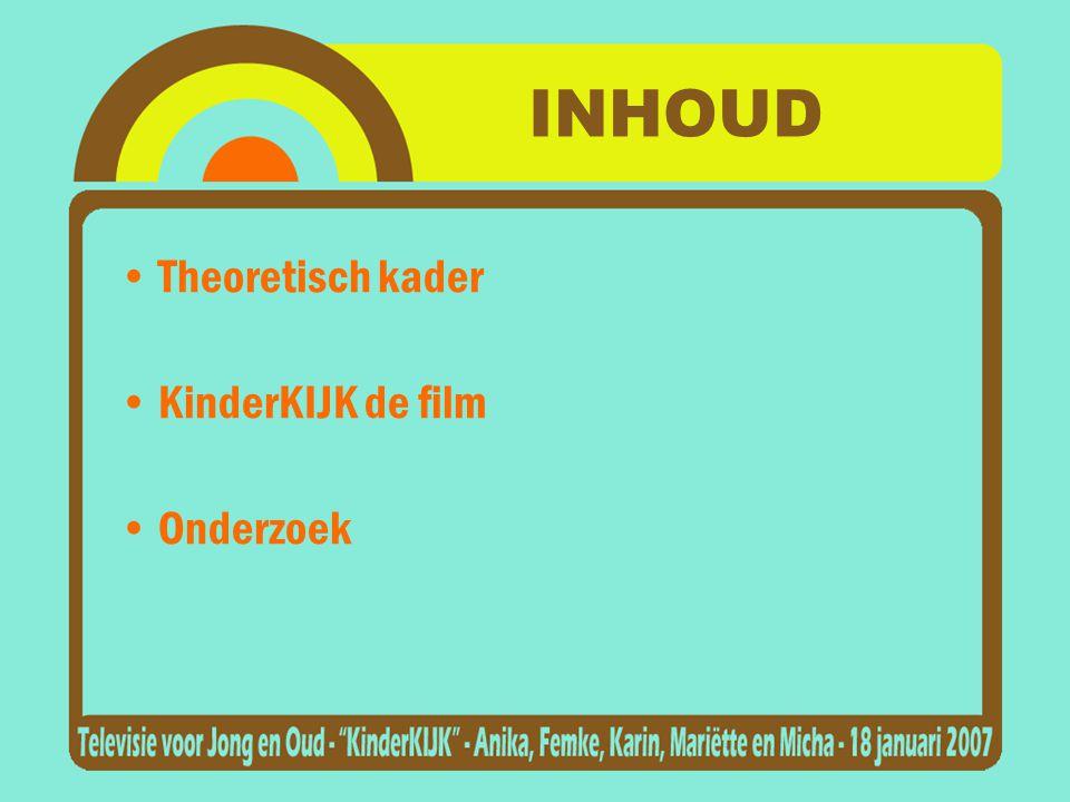 INHOUD •Theoretisch kader •KinderKIJK de film •Onderzoek