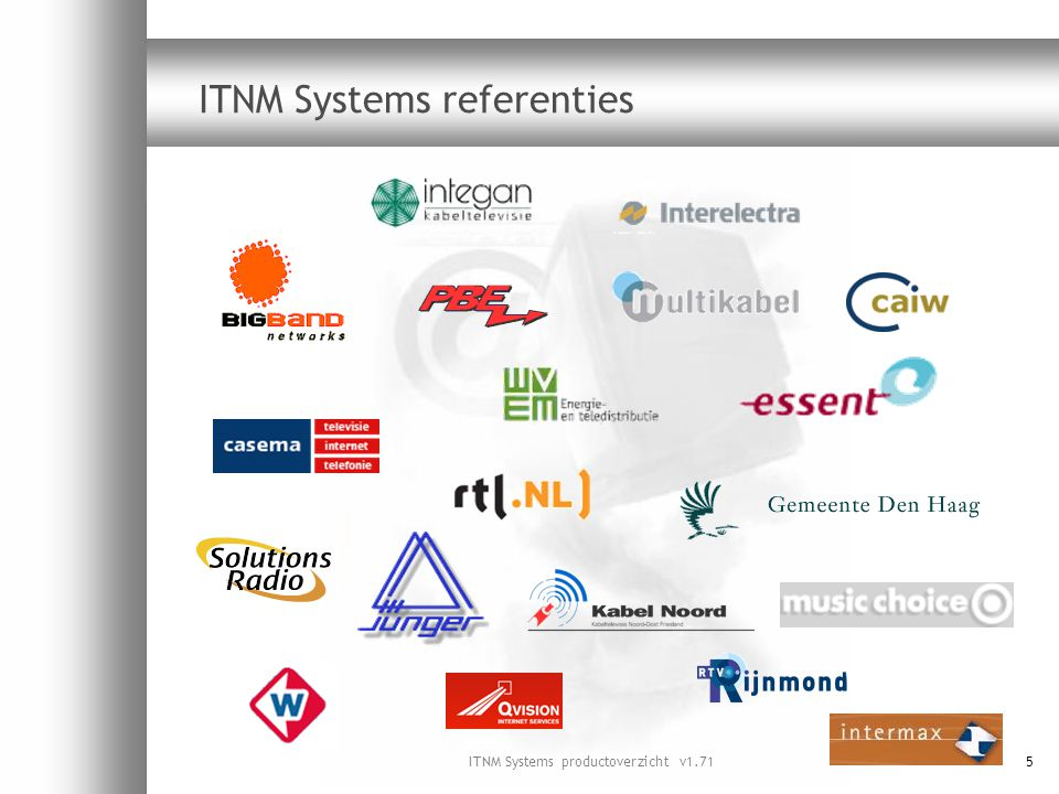 ITNM Systems productoverzicht v1.7136 Oplossing DST100 DVB Subtitling & Teletext Converter