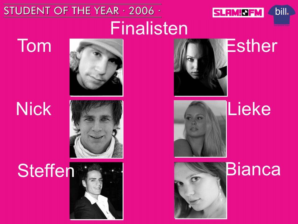 Finalisten Tom Steffen Nick Esther Bianca Lieke