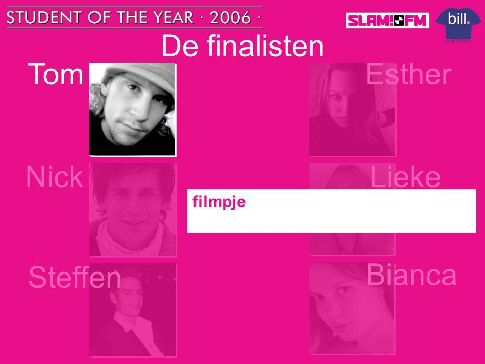 De finalisten Tom Steffen Nick Esther Bianca Lieke filmpje