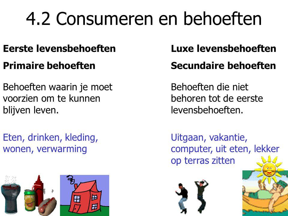 4.3 Keuren, Kiezen, Kopen ConsumentenbondConsumentengids Organisatie die opkomt voor de belangen van de consument.