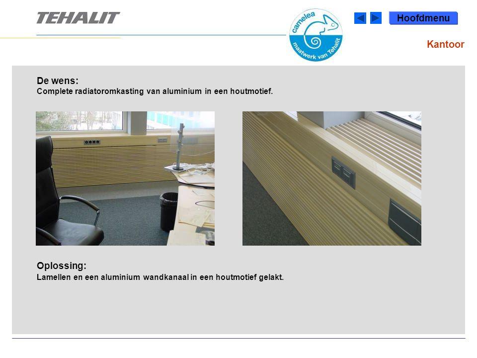 De wens: Complete radiatoromkasting van aluminium in een houtmotief.