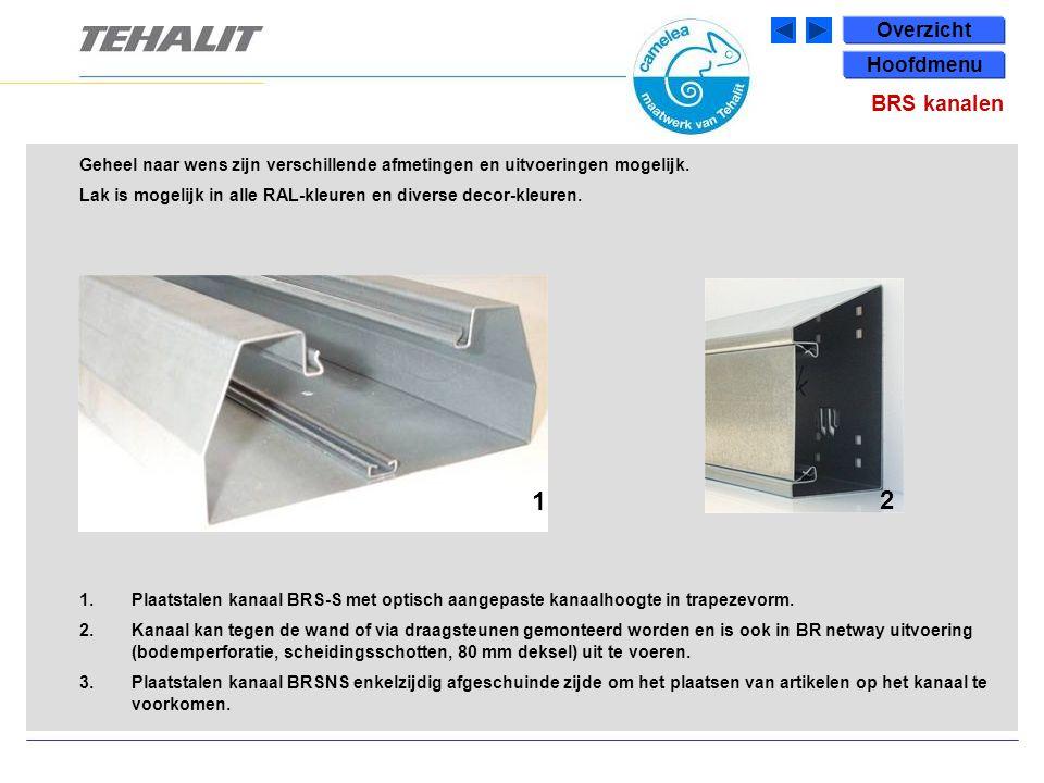 1.Plaatstalen kanaal BRS-S met optisch aangepaste kanaalhoogte in trapezevorm.