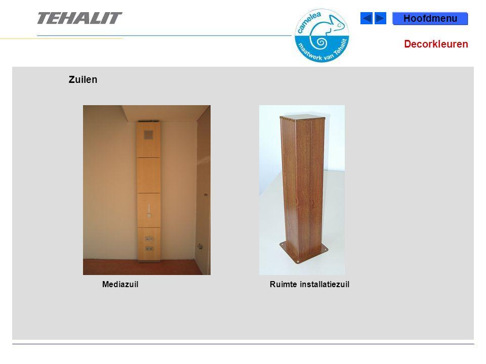 Hoofdmenu MediazuilRuimte installatiezuil Zuilen Decorkleuren