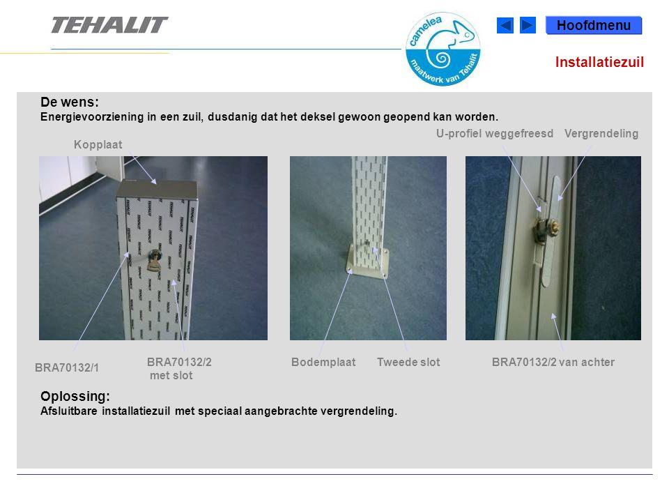 De wens: Energie- en lichtvoorziening (indirect licht om verblinding te voorkomen) via een verlaagd plafond naar testtafel-opstellingen.