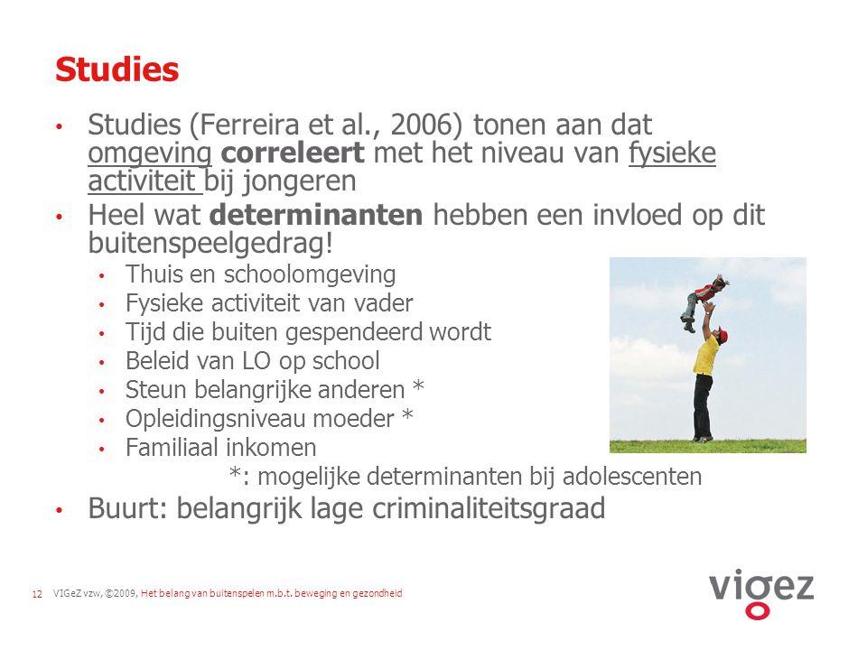VIGeZ vzw, ©2009, Het belang van buitenspelen m.b.t.