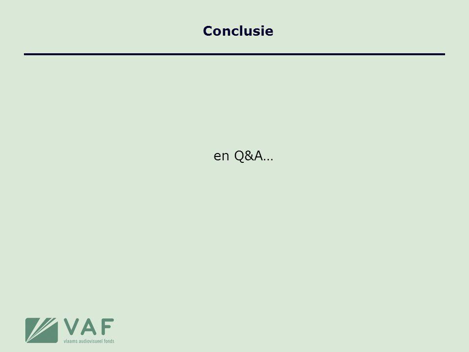 Conclusie en Q&A…