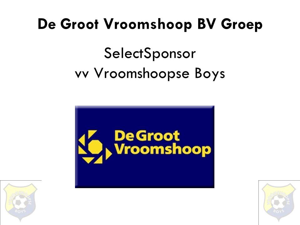De Groot Vroomshoop BV Groep SelectSponsor vv Vroomshoopse Boys