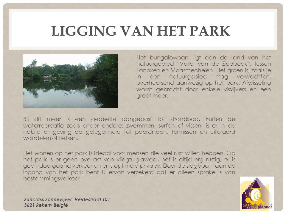 FACILITEITEN VAN HET PARK Dit bungalowpark ligt op een mooie centrale ligging te midden van een zeldzaam mooi natuurgebied met vennen en visvijvers.