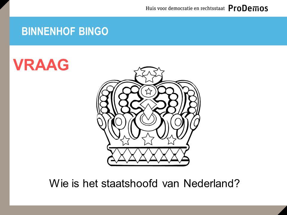 BINNENHOF BINGO Wie is het staatshoofd van Nederland? VRAAG