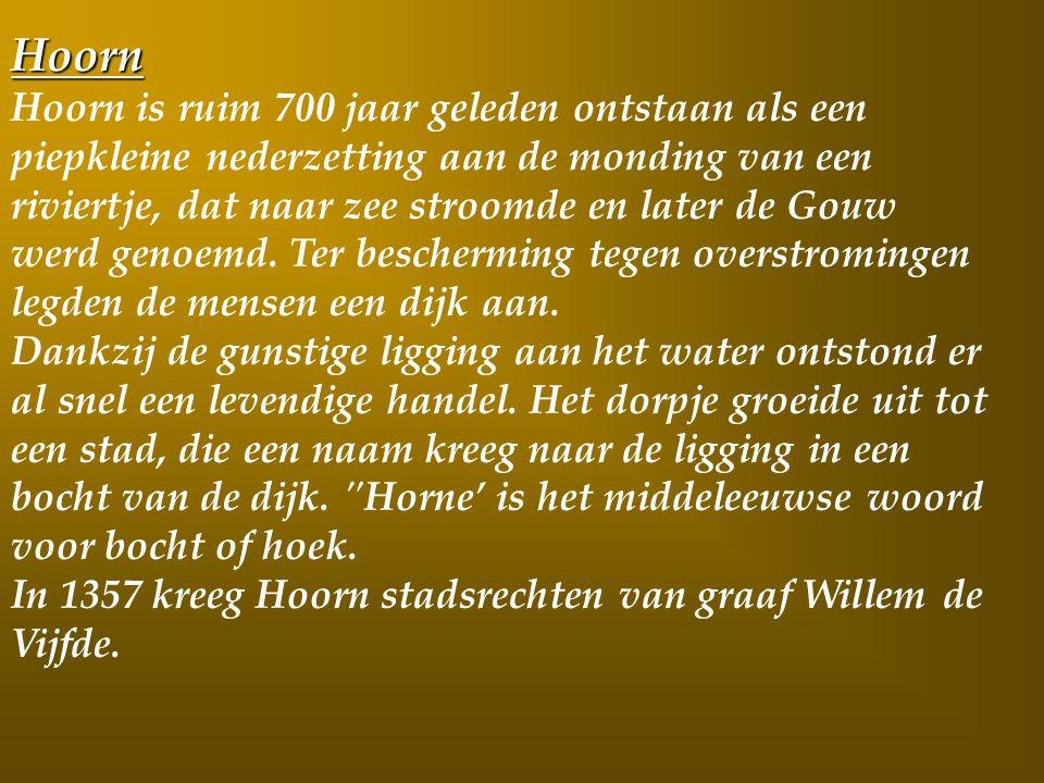 Dag 2 Vandaag verblijven we de ganse dag in de Historische driehoek Enkhuizen- Medemblik –Hoorn.
