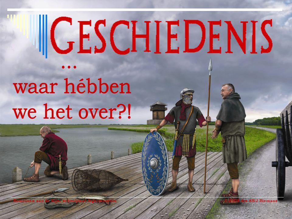 Romeinen aan de Rijn, schoolplaat legermuseum © 2008 drs AWJ Biemans