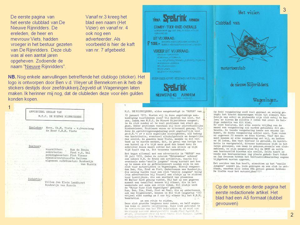 Op de tweede en derde pagina het eerste redactionele artikel.