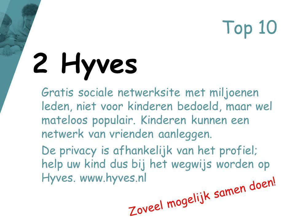 Top 10 Gratis sociale netwerksite met miljoenen leden, niet voor kinderen bedoeld, maar wel mateloos populair. Kinderen kunnen een netwerk van vriende