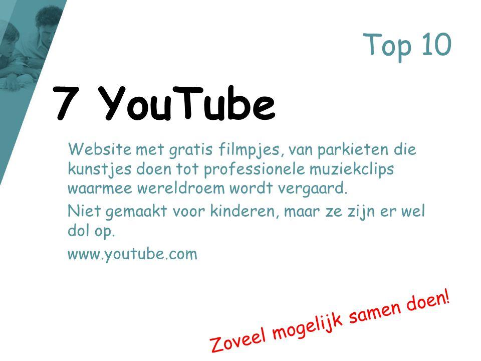 Top 10 Website met gratis filmpjes, van parkieten die kunstjes doen tot professionele muziekclips waarmee wereldroem wordt vergaard. Niet gemaakt voor