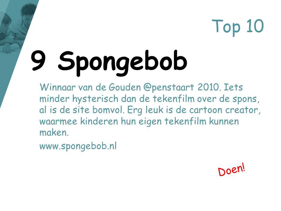Top 10 Winnaar van de Gouden @penstaart 2010. Iets minder hysterisch dan de tekenfilm over de spons, al is de site bomvol. Erg leuk is de cartoon crea