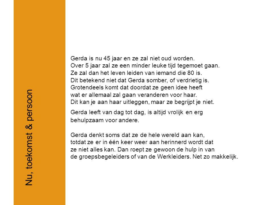 Ik heb hulp nodig om mijn dag, op een zinvolle manier in te delen Gerda haar hulpvraag Gemaakt door: Wendy van Bever & Yve Amo Verweij
