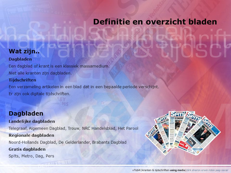 Kwantitatieve kenmerken Contactfrequentie Voorbeeld: de contactfrequentie van de Telegraaf.