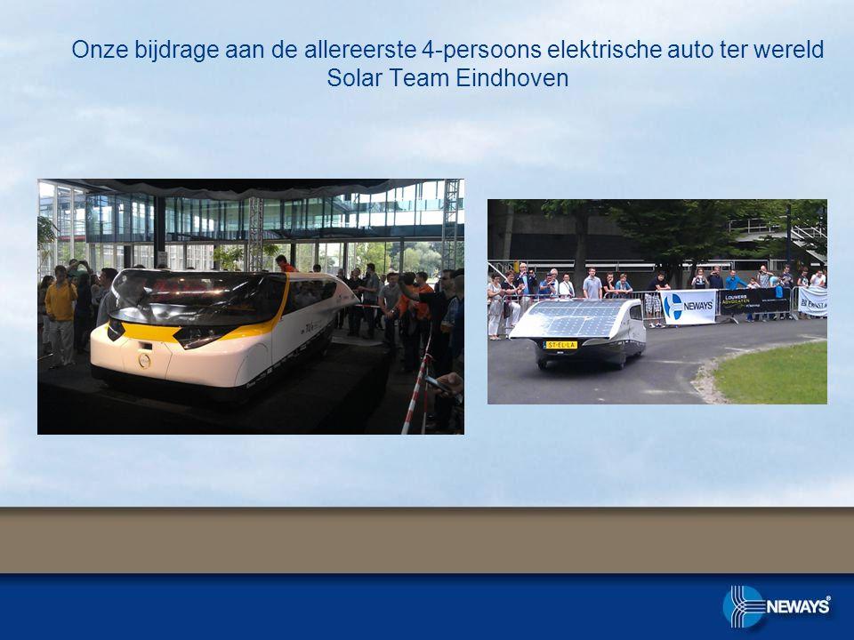 Onze bijdrage aan de allereerste 4-persoons elektrische auto ter wereld Solar Team Eindhoven