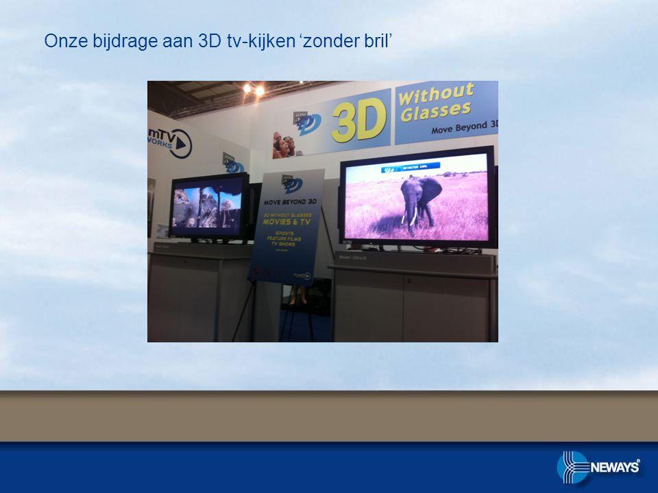 Onze bijdrage aan 3D tv-kijken 'zonder bril'