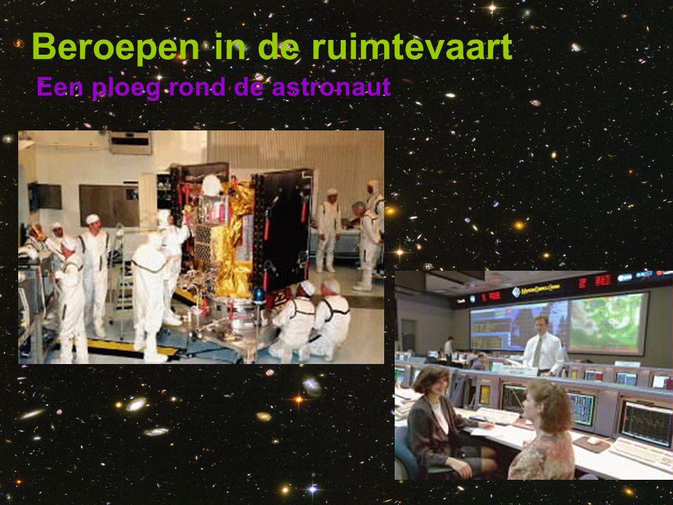 Een ploeg rond de astronaut Beroepen in de ruimtevaart