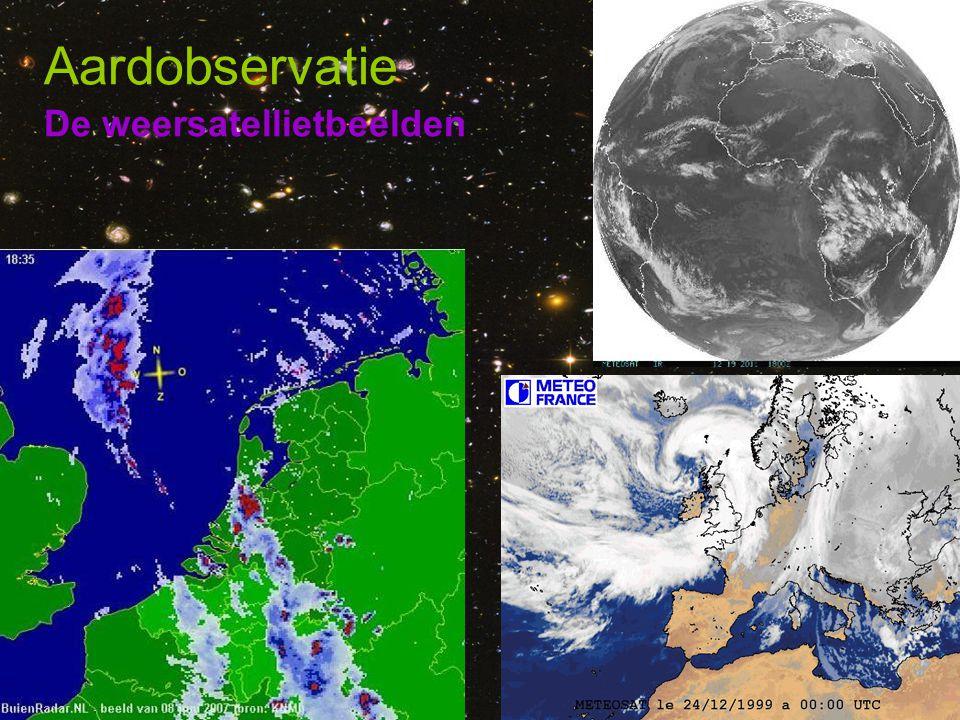 De weersatellietbeelden Aardobservatie