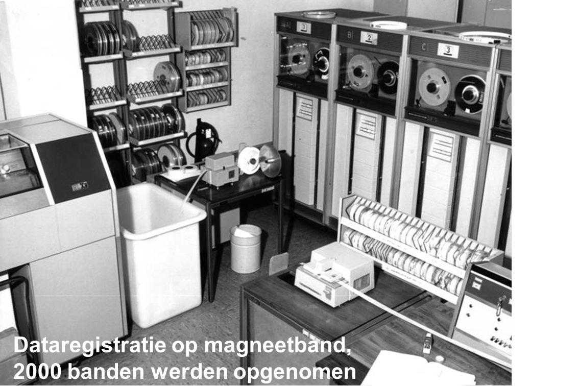 Dataregistratie op magneetband, 2000 banden werden opgenomen