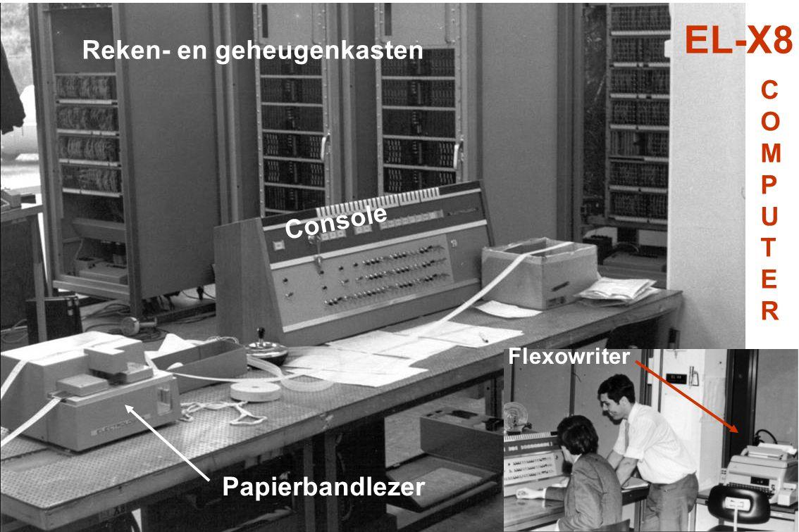 Papierbandlezer Reken- en geheugenkasten Console Flexowriter EL-X8 COMPUTERCOMPUTER