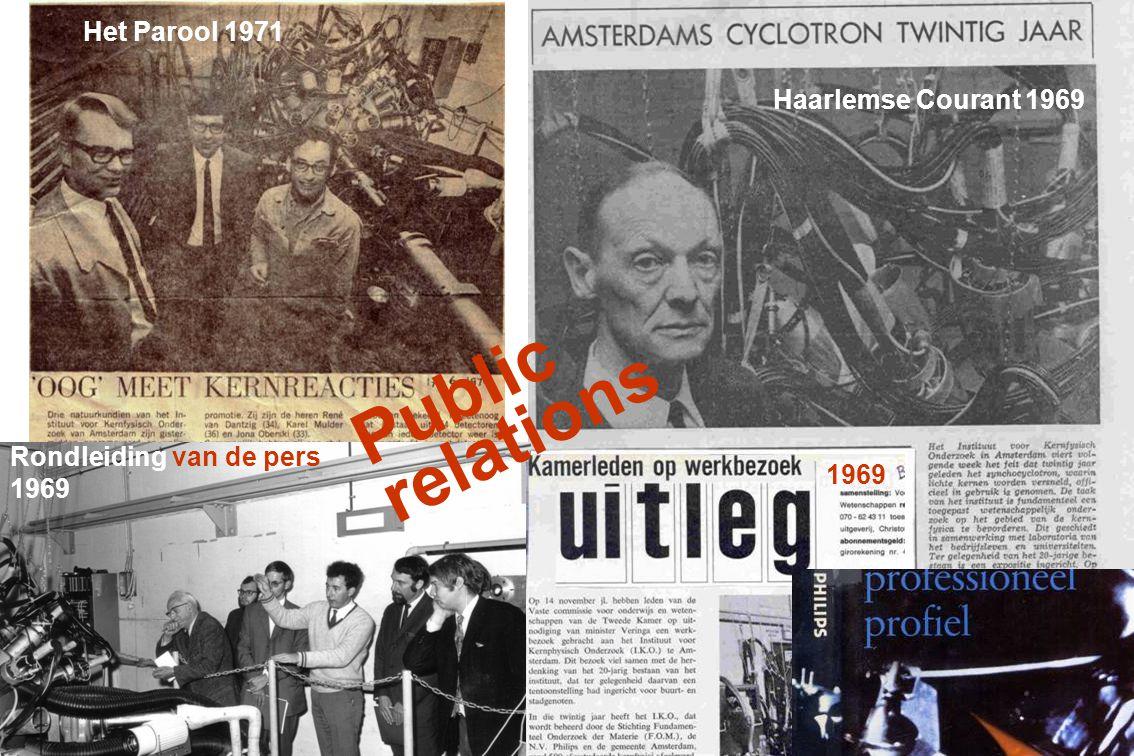 Rondleiding van de pers Het Parool 1971 Rondleiding van de pers 1969 Haarlemse Courant 1969 Public relations