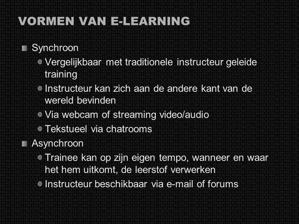 GESCHIEDENIS VAN E-LEARNING 2000-2005, Tweede generatie E-Learning Verbetering van Java, netwerken, hoge kwaliteit audio/video streaming Breedbandverb