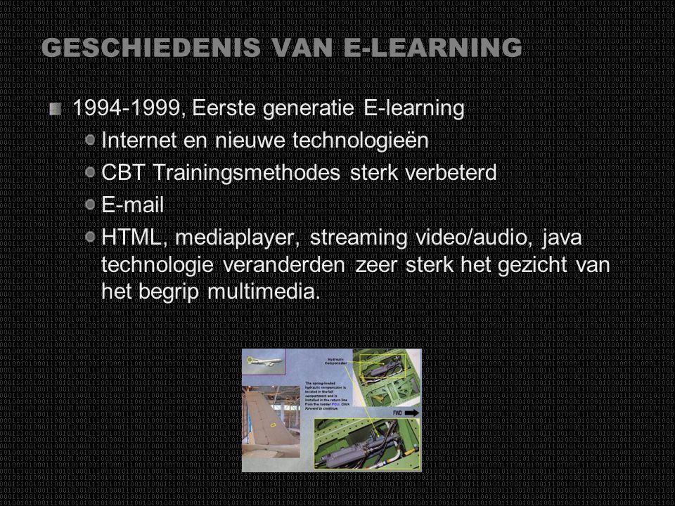 GESCHIEDENIS VAN E-LEARNING 1984-1993, Multimedia tijdperk Win 3.1, Mac OS. CD-Rom, powerpoint … Grondlegger van multimedia tijdperk Ontstaan van Comp