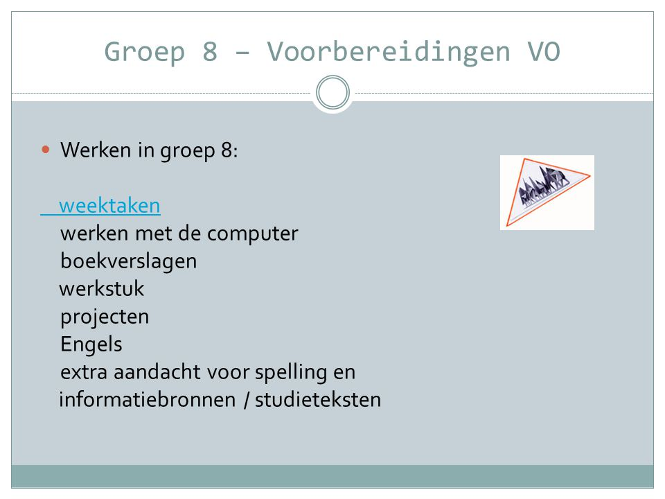 Presentatie groep 8 – 2011/2012 Vragen? Bedankt voor jullie aandacht. Nelleke Oort