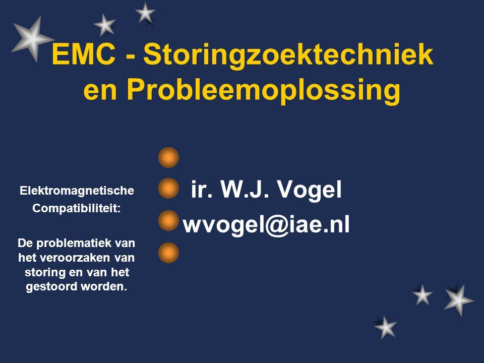 wvogel @ iae.nl 32 Belangrijke gegevens  Voor verdere technische en andere vragen: –ir.