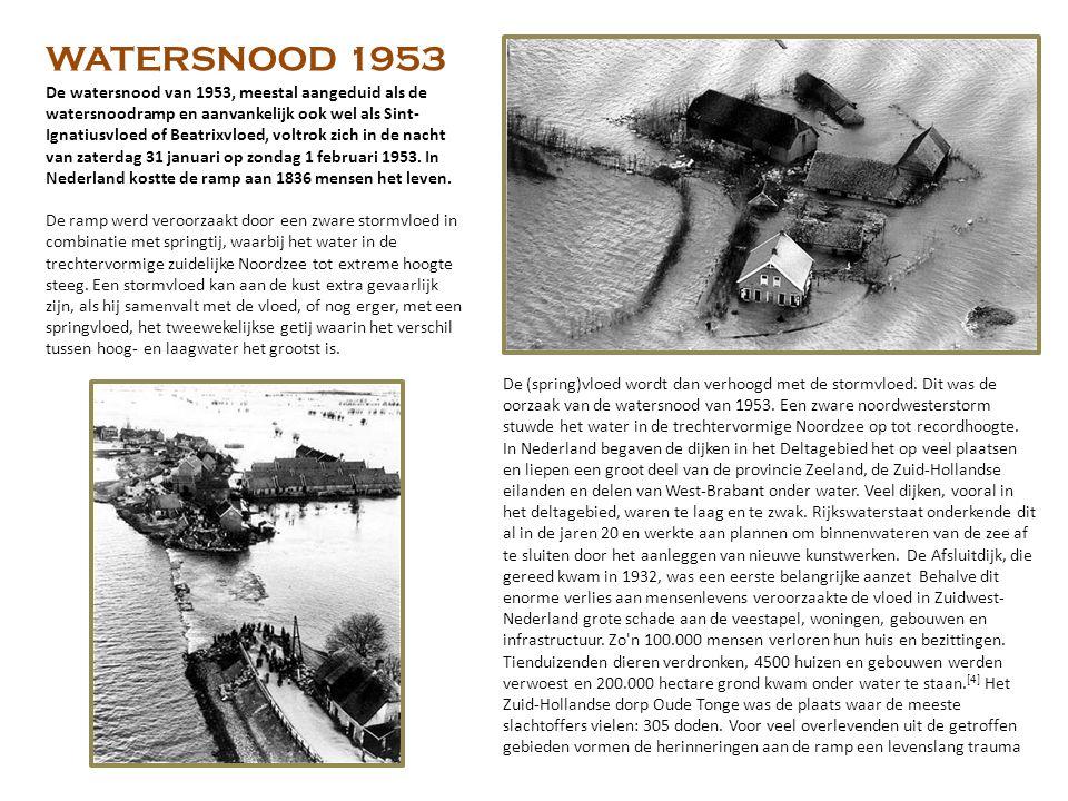 De watersnood van 1953, meestal aangeduid als de watersnoodramp en aanvankelijk ook wel als Sint- Ignatiusvloed of Beatrixvloed, voltrok zich in de nacht van zaterdag 31 januari op zondag 1 februari 1953.