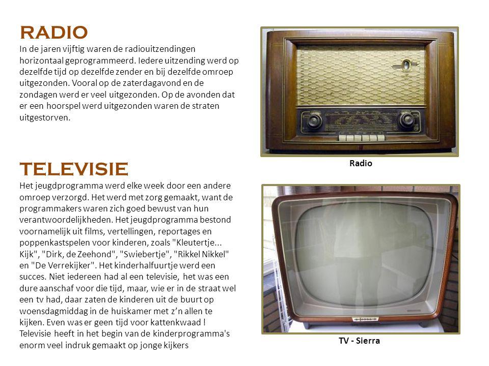 TV - Sierra Radio RADIO In de jaren vijftig waren de radiouitzendingen horizontaal geprogrammeerd.