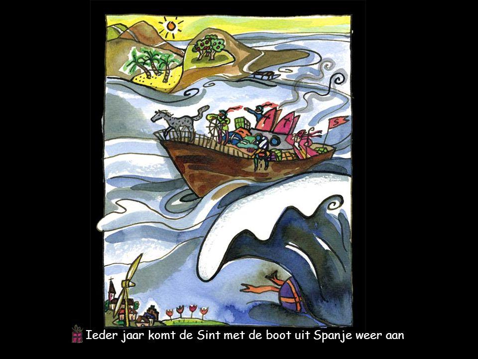 Ieder jaar komt de Sint met de boot uit Spanje weer aan