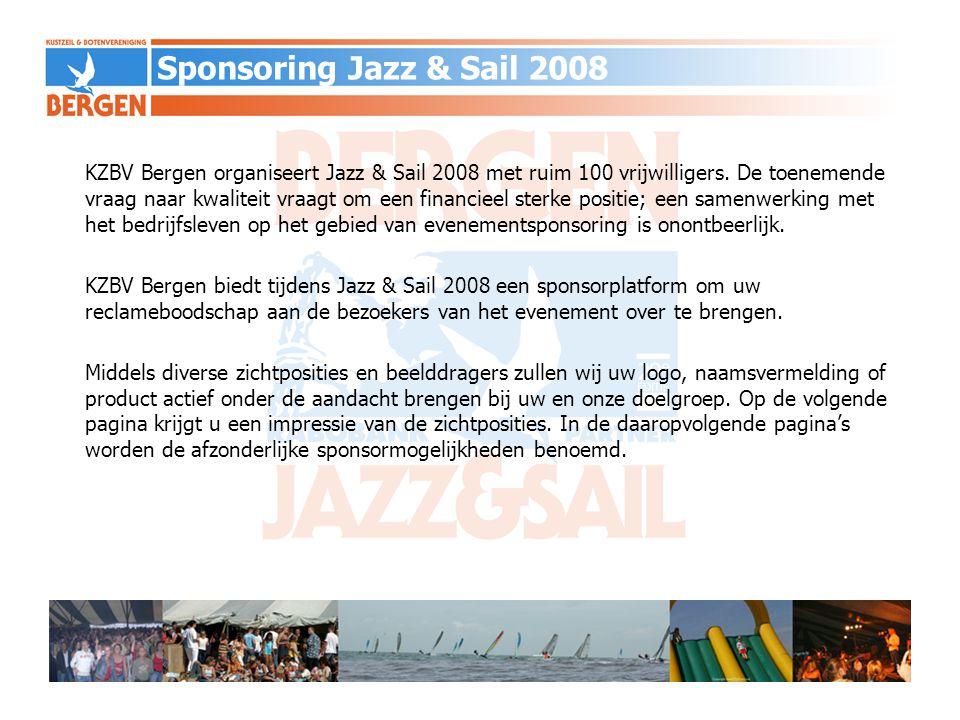 KZBV Bergen organiseert Jazz & Sail 2008 met ruim 100 vrijwilligers. De toenemende vraag naar kwaliteit vraagt om een financieel sterke positie; een s