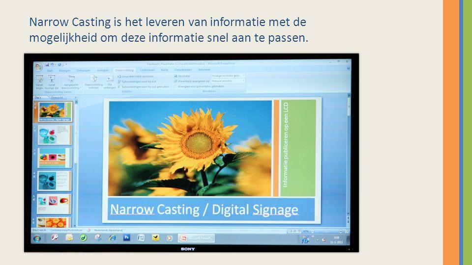 Verbind een willekeurige pc viaUltraVNC met het LCD scherm, het LCD scherm kunt u via het netwerk benaderen.