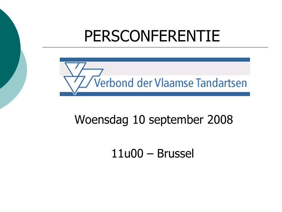 PERSCONFERENTIE Woensdag 10 september 2008 11u00 – Brussel