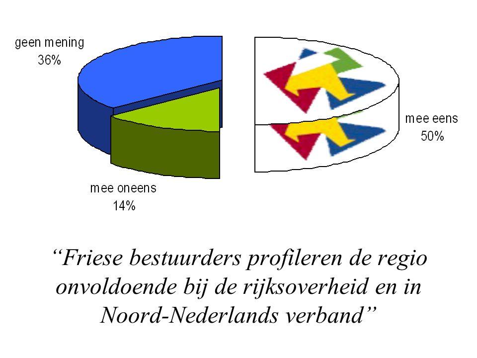 """""""Friese bestuurders profileren de regio onvoldoende bij de rijksoverheid en in Noord-Nederlands verband"""""""